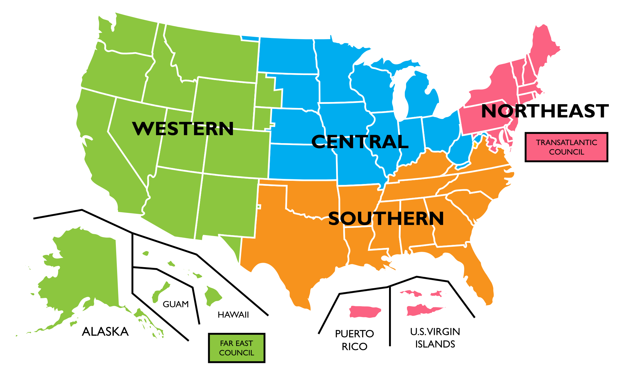 Map Of The Us Divided By Regions Map Of The United States Divided - Us map divided into 4 regions